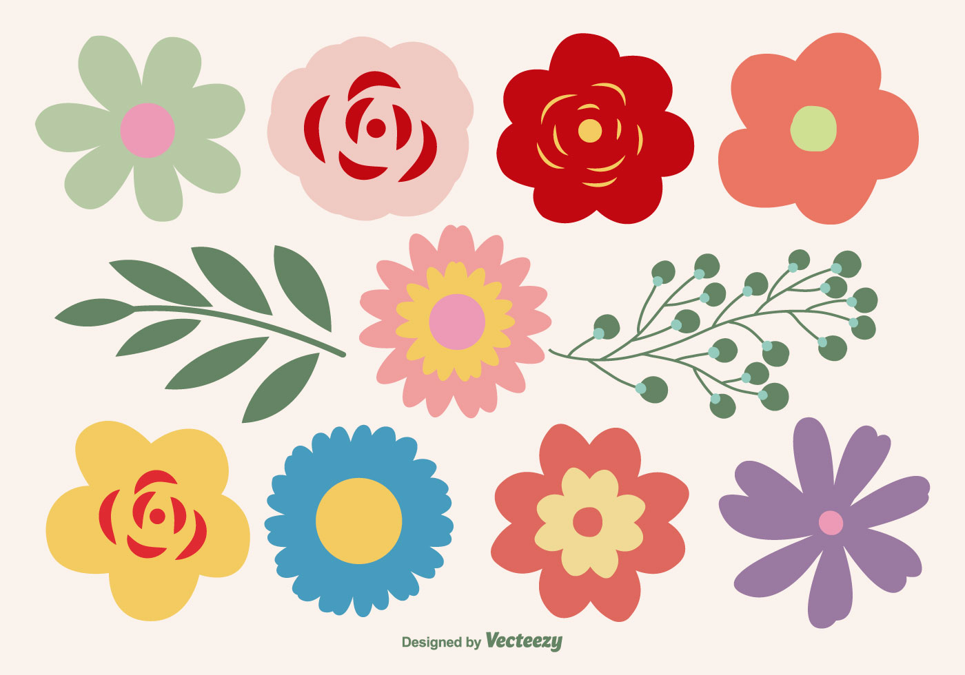 Flower Vector Ai Free Download