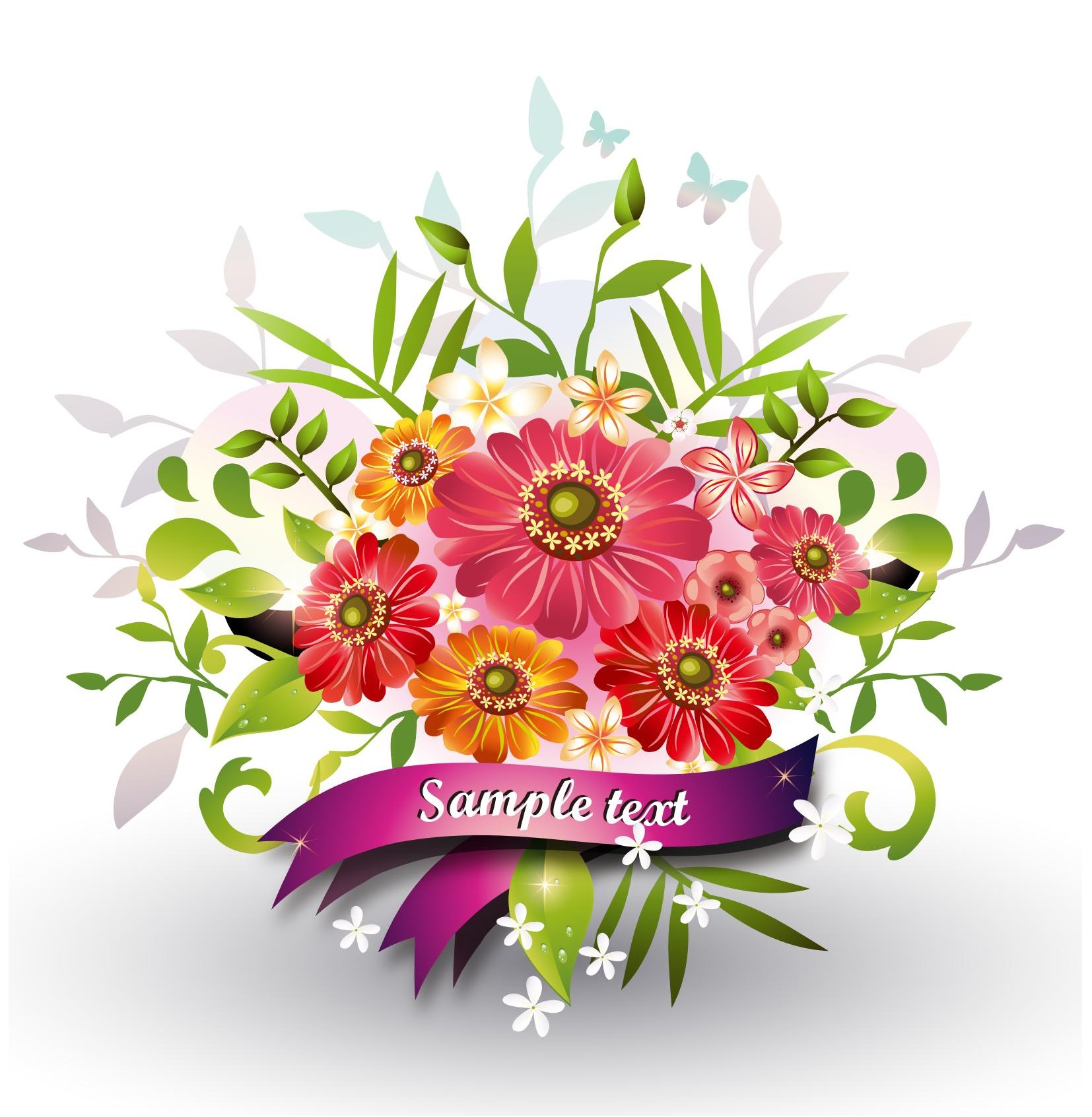 Flower vector ai free download for Immagini vector