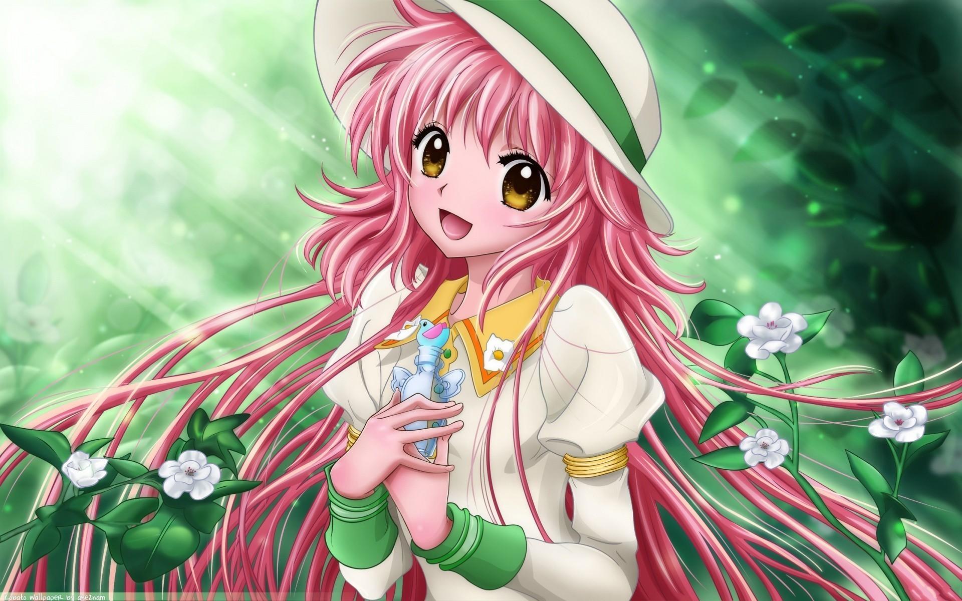 Cute Anime Girl Student Wallpaper