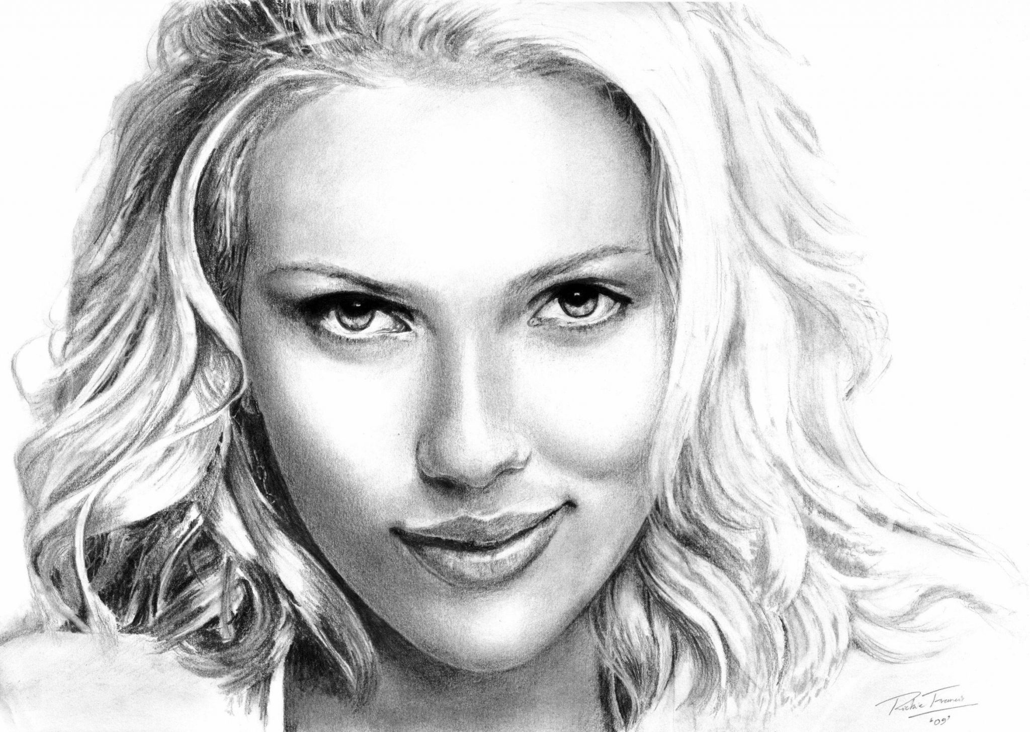 Girl pencil drawing images for Awesome face drawing