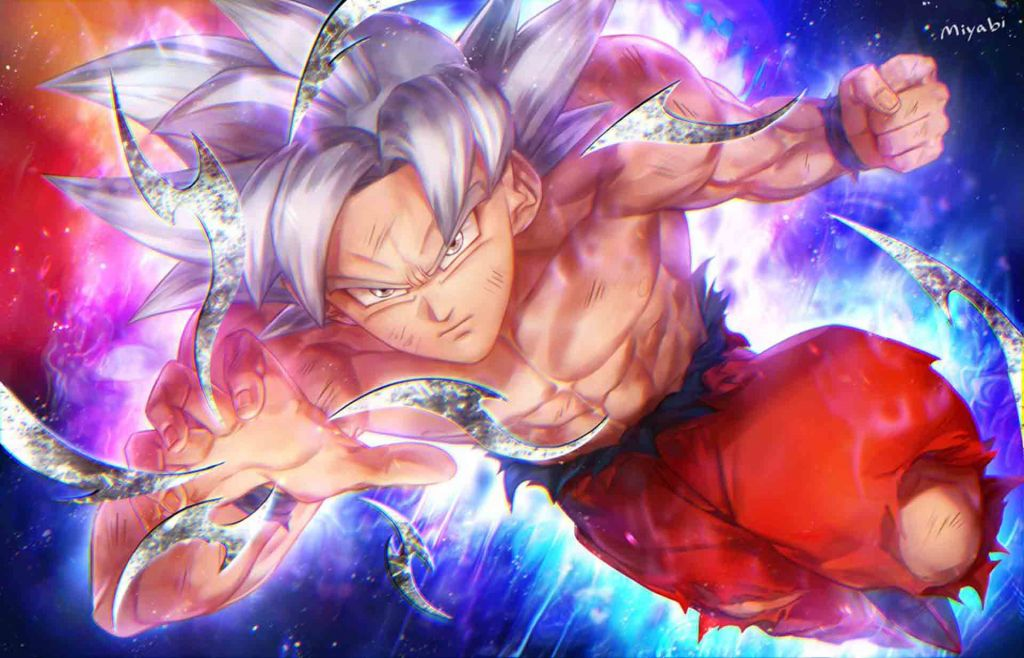 Son Goku Mastered Ultra Instinct background Full HD for PC.